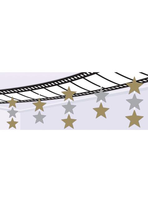 Filmband und Sterne Deckendekoration