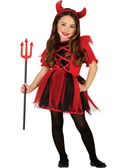 Strój Diablica dla dziewczynek