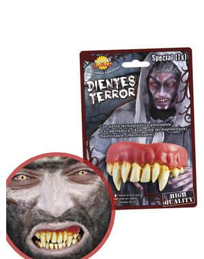 Umělé zuby pro příšeru
