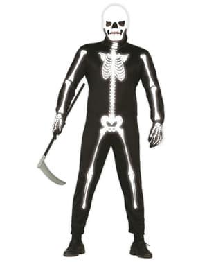 Costume da scheletro Fotoluminescente da adulto
