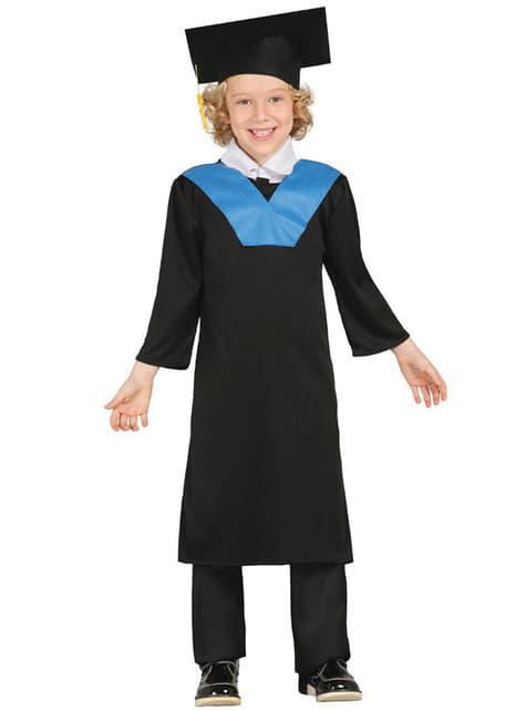 Blauw geslaagde student kostuum voor kinderen