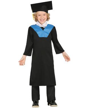 Costume da laureato azzurro da bambino