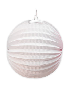 Lanterna sferica 26 cm. Bianco