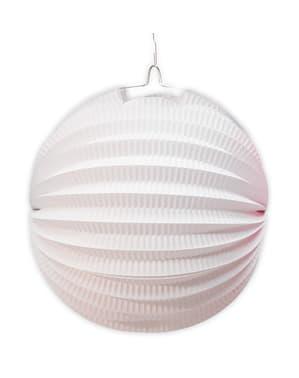Weiße Kugelförmige Laterne 26 cm