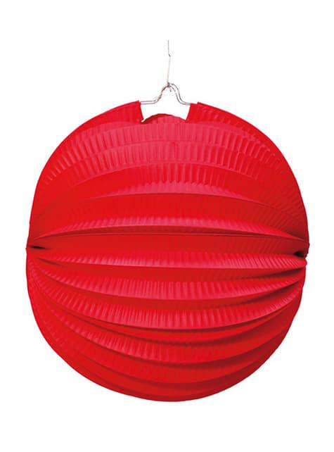 Lampion kula 26 cm. czerwony