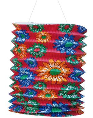 Avlång papperslykta Blommor 20 cm