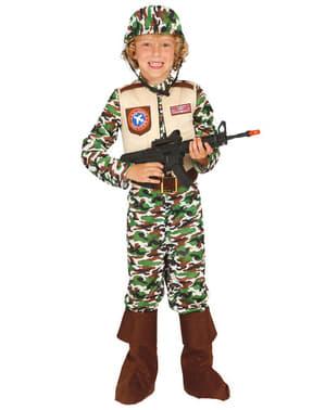 Amerikanska Specialstyrkor Soldat Maskeraddräkt Barn