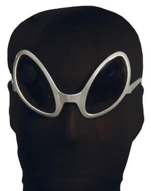 Sølv rumvæsenbriller