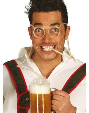 Briller med sugerør