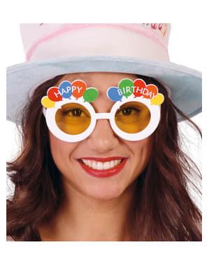 White Happy Birthday Glasses