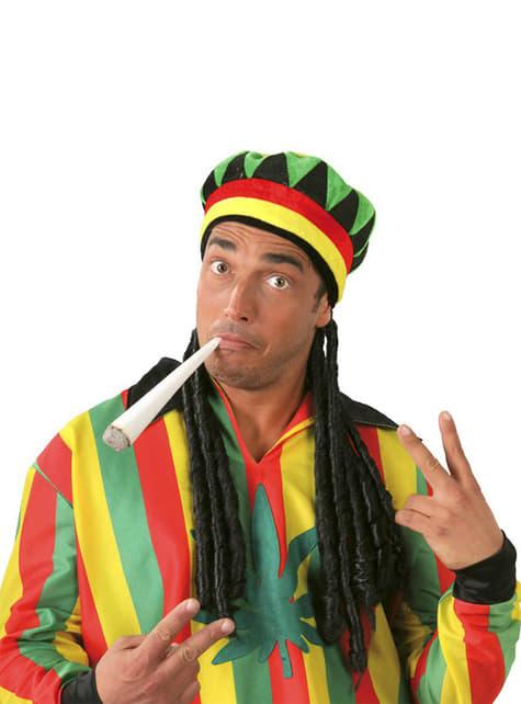 Boné de Jamaicano com Rastas