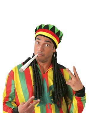 Jamaikalainen hattu rastoilla