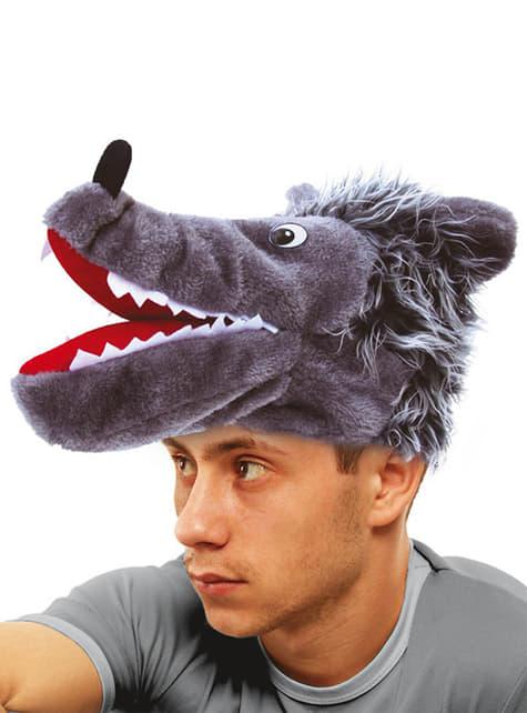 Čepice vlk šedá