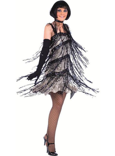 Fransiges Charleston Kostüm mit Pailetten