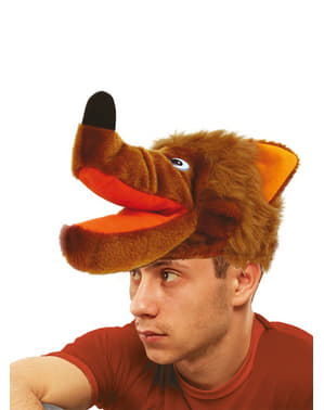 Brown Wolf Hood Hat