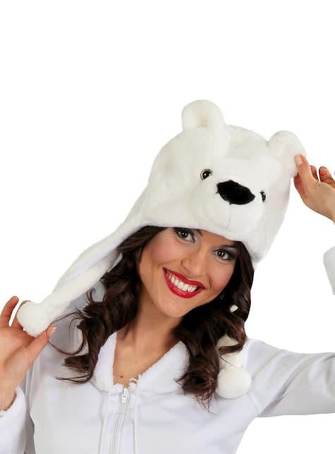 Čepice lední medvěd s klapkami na uši
