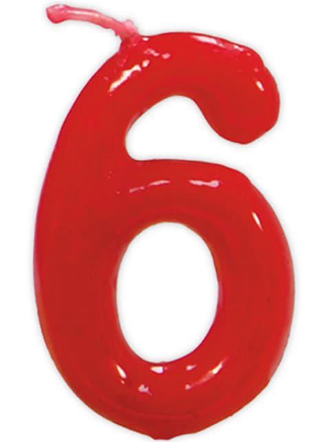 No. 6 Classic Születésnapi gyertya