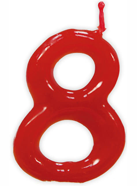 No. 8 Classic Birthday Candle