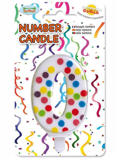 Świeczka urodzinowa Confetti numer 0