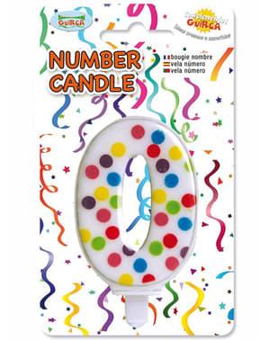 Bursdag lys konfetti nummer 0