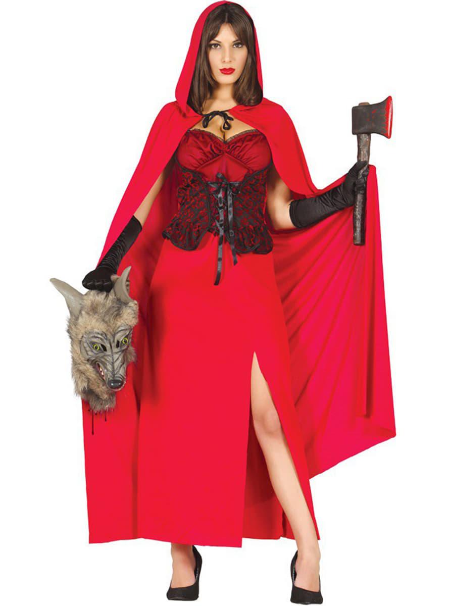Disfraz de caperucita feroz para mujer comprar online en - Disfraz bebe caperucita roja ...