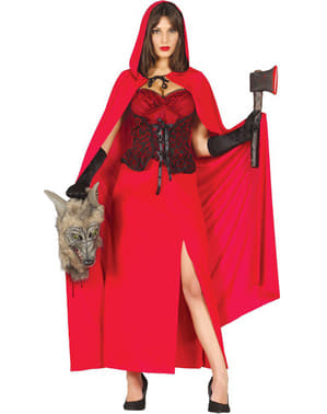 Dámský kostým neohrožená Červená Karkulka