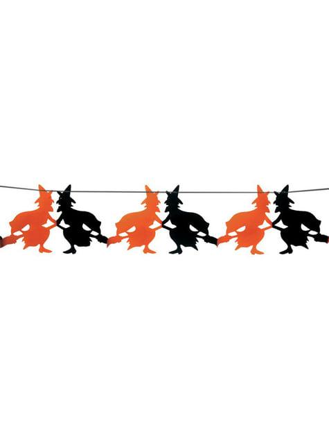 Halloweenská girlanda čarodějnice 23 x 300 cm
