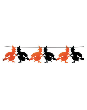 Ghirlandă vrăjitori Halloween 23 x 300 cm