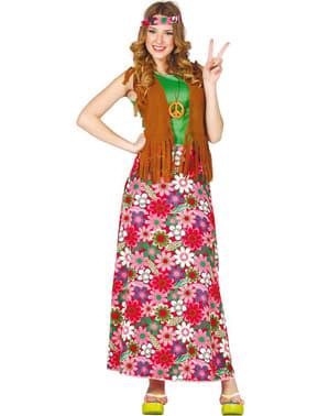 Glad Hippie Kostyme Dame