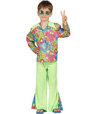 Disfraz de hippie multicolor para niño
