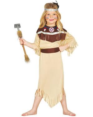 Fato de índia Cherokee para menina
