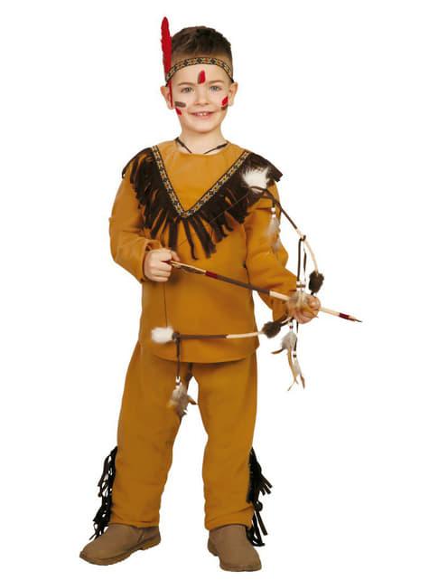 Strój dziki Indianin dla chłopca