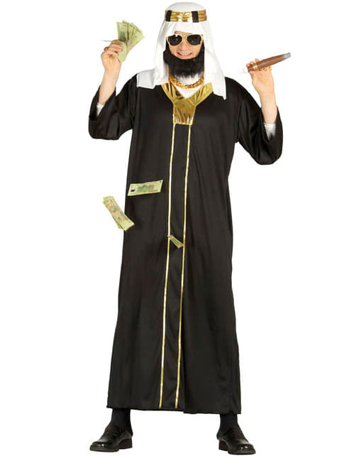 Arab Sheikh Costume in Black