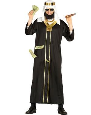 Αραβικά Sheikh κοστούμι στο Μαύρο