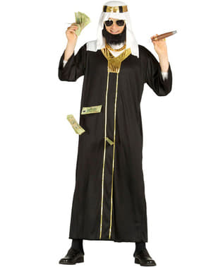 Disfarce de Xeque Árabe preto