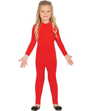 Rood aansluitend pak voor kinderen