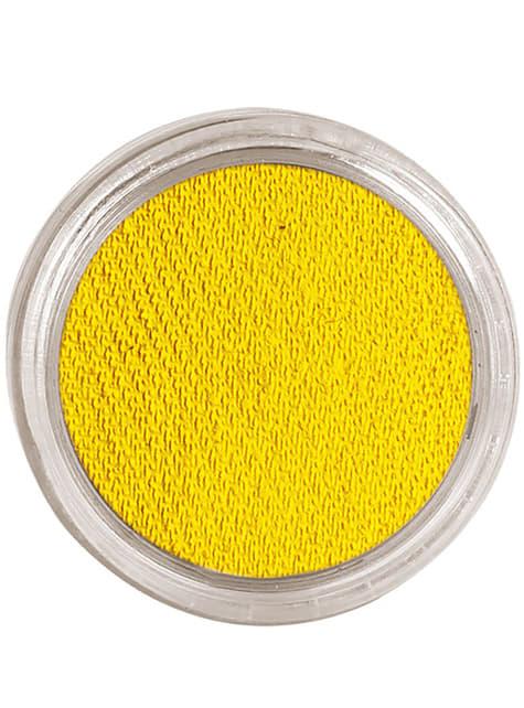 Maquillaje al agua color amarillo