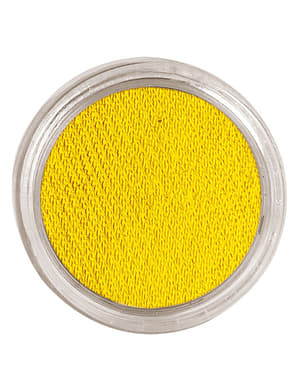Maquillaje al agua color amarillo