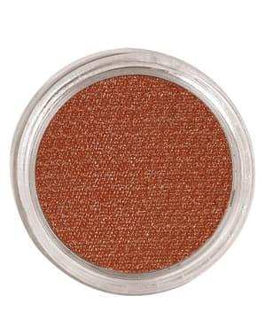 Maquillaje al agua color marrón