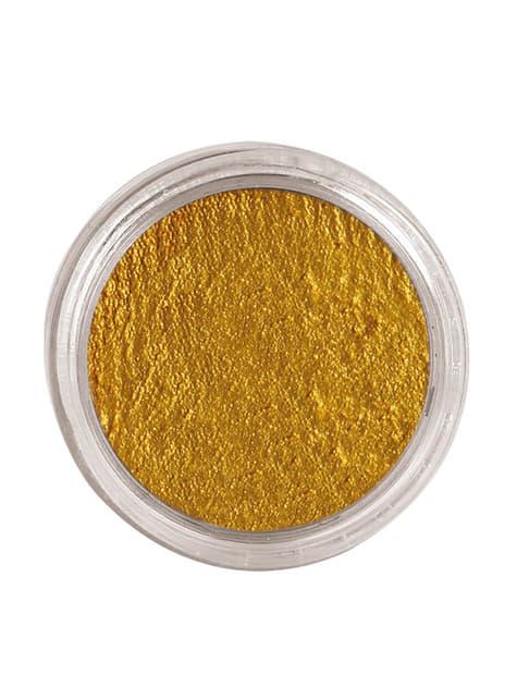 Maquillage à l'eau or
