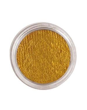 Maquillaje al agua color oro