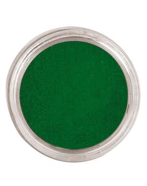 Maquillage à l'eau vert