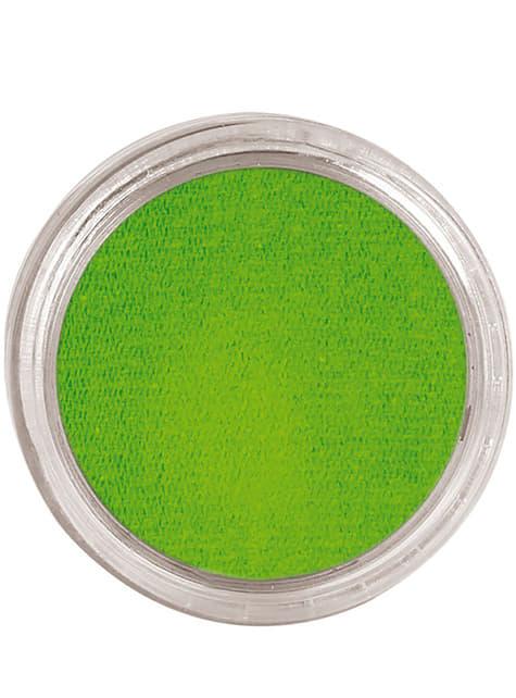 Maquillage à l'eau vert clair