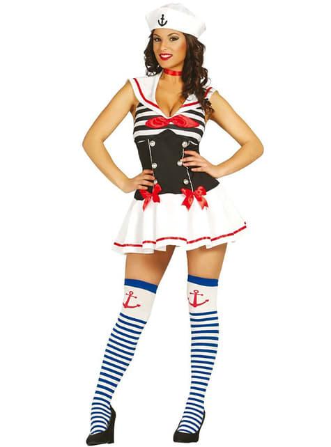 Verführerisches Matrosin Kostüm für Damen
