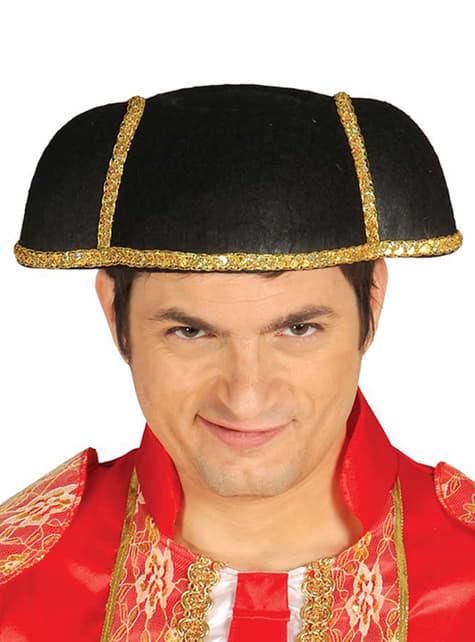 大人の光沢のある闘牛士の帽子
