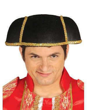 Aikuisten kiiltävä matadorin hattu