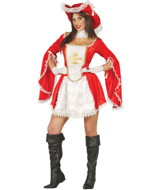 Moedige musketier kostuum voor vrouw