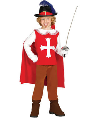 Red Musketeer Costume for Kids