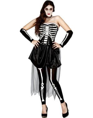 Fato de esqueleto sensual para mulher