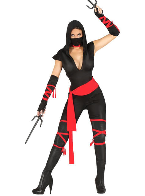Kostium czarny ninja damski